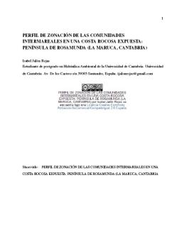 Artículo Zonación Intermareal I. Jalón-Rojas